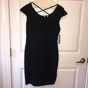 Papell Boutique Handmade Beaded Cocktail Dress Sz4